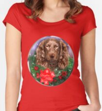 Boykin Spaniel Christmas Gifts Women's Fitted Scoop T-Shirt