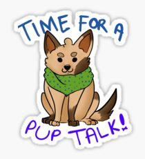 motivational puppy Sticker