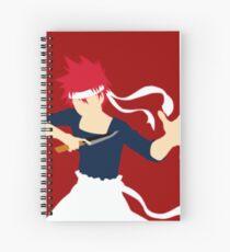 Minimalist Yukihira Souma Spiral Notebook