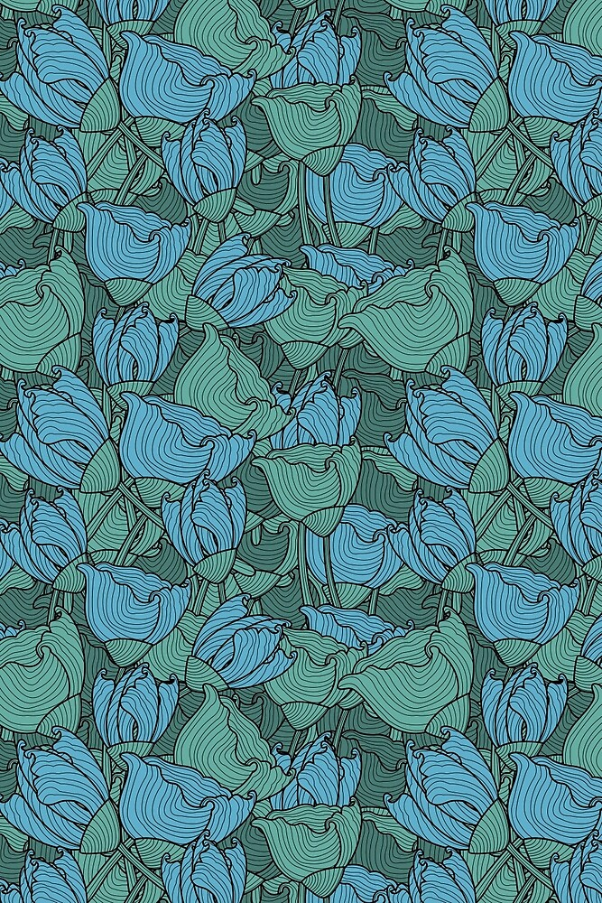 Flowers pattern by Sven Horn