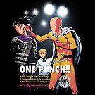 Saitama's ONE PUNCH by ninjaink