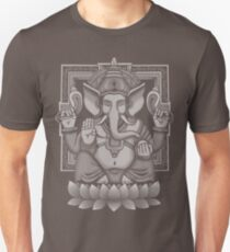 Ganesh White Halftone Unisex T-Shirt