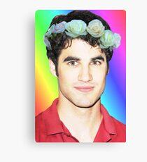 Darren Criss Flower Crown Canvas Print