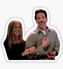 Friends TV Show Ross Rachel  Sticker