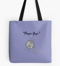 Knitting knit finger yoga T-Shirt for knitters Tote Bag