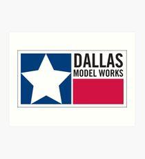 Dallas Model Works logo Art Print