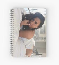 Demi Lovato laying in bed Spiral Notebook