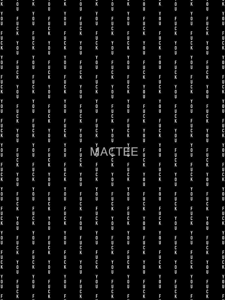 McGregor F You pin stripe by MACTEE