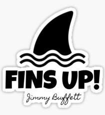 Jimmy Buffett - Fins Up! Sticker