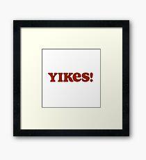 yikes - aesthetic Framed Print