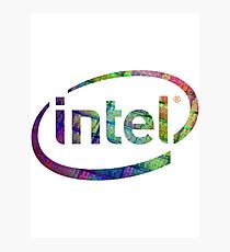 Intel Logo | Silicon CPU Photographic Print