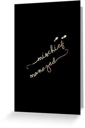 Mischief Managed Signature (black) by LindaBatt