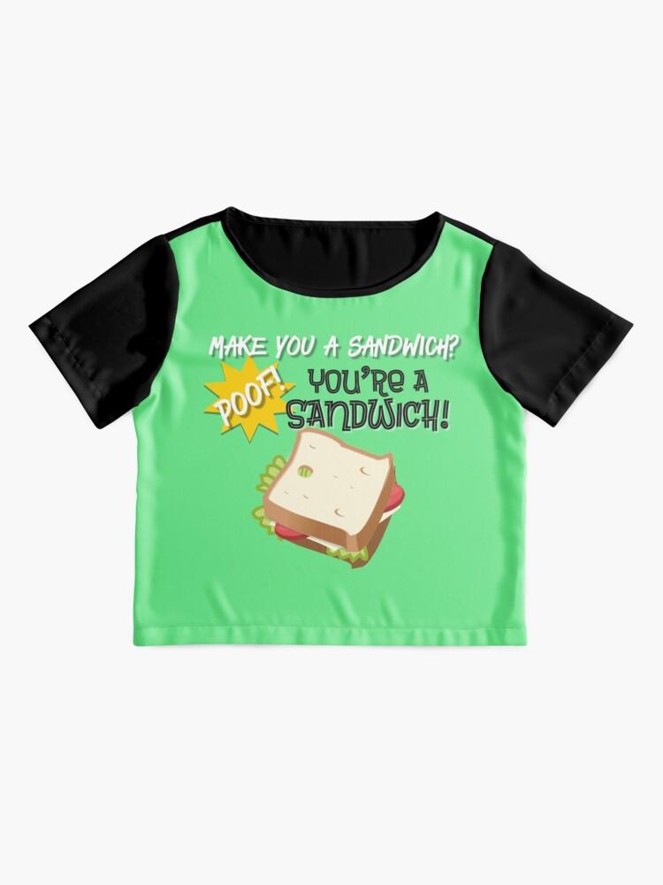 Alternate view of You're a Sandwich Design Chiffon Top