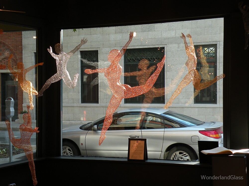 dancing figures by Michael Gard by WonderlandGlass