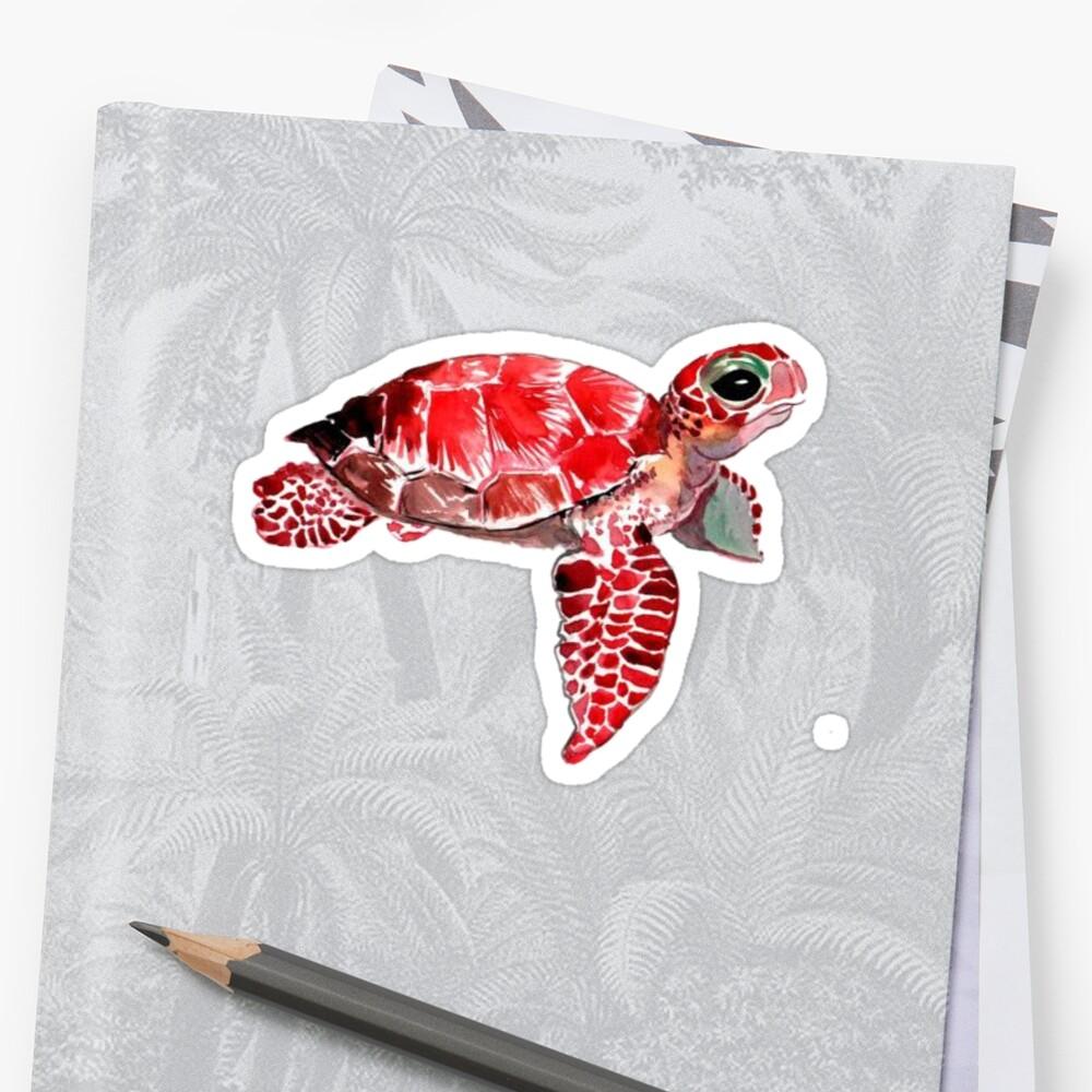 Baby Sea turtle sticker Sticker Front