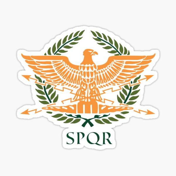 SPQR-White Sticker