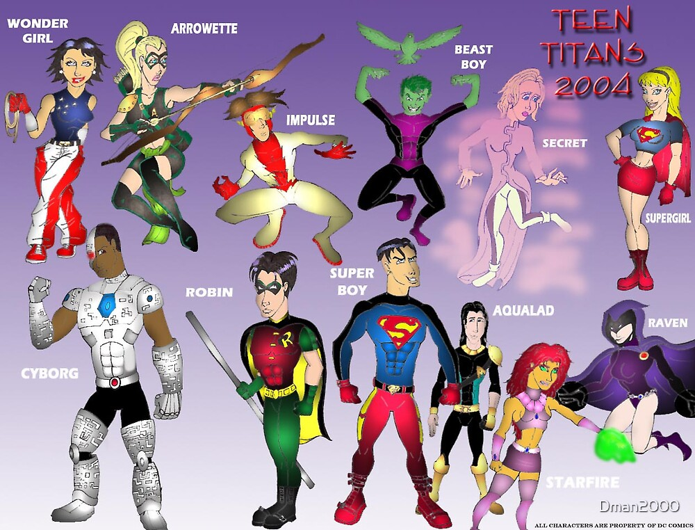 Revamped Teen Titans by Dman2000