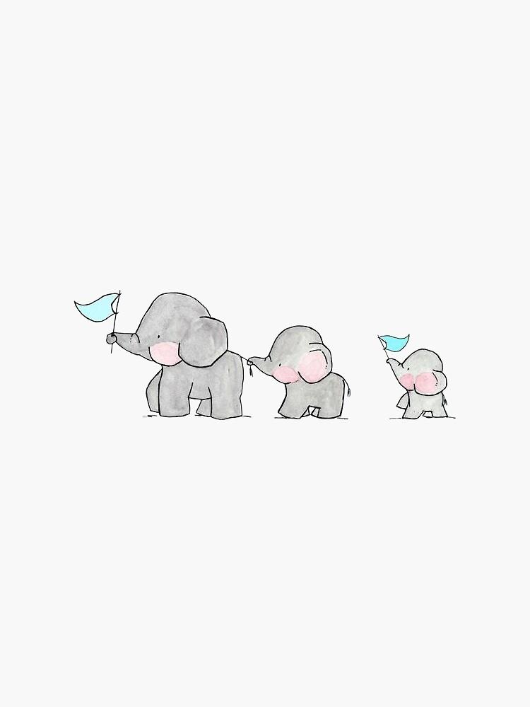 Baby Elephants by katherineshek
