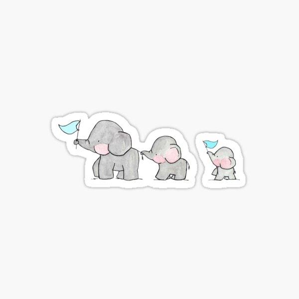 Baby elephant sticker Sticker