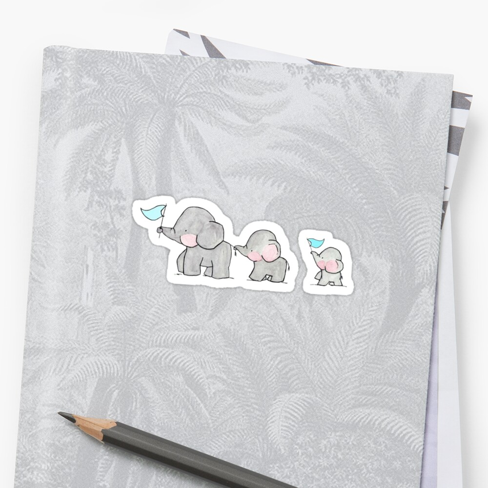 Baby elephant sticker by Katherine S