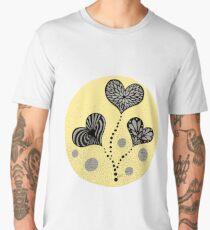 mellow yellow heart flowers Men's Premium T-Shirt