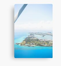 View from Plane of St. Georges Bermuda Canvas Print