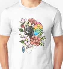 White-faced Cockatiel Tattoo-style T-Shirt