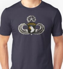 101st Airborne Division patch on sliver jumpwings. T-Shirt