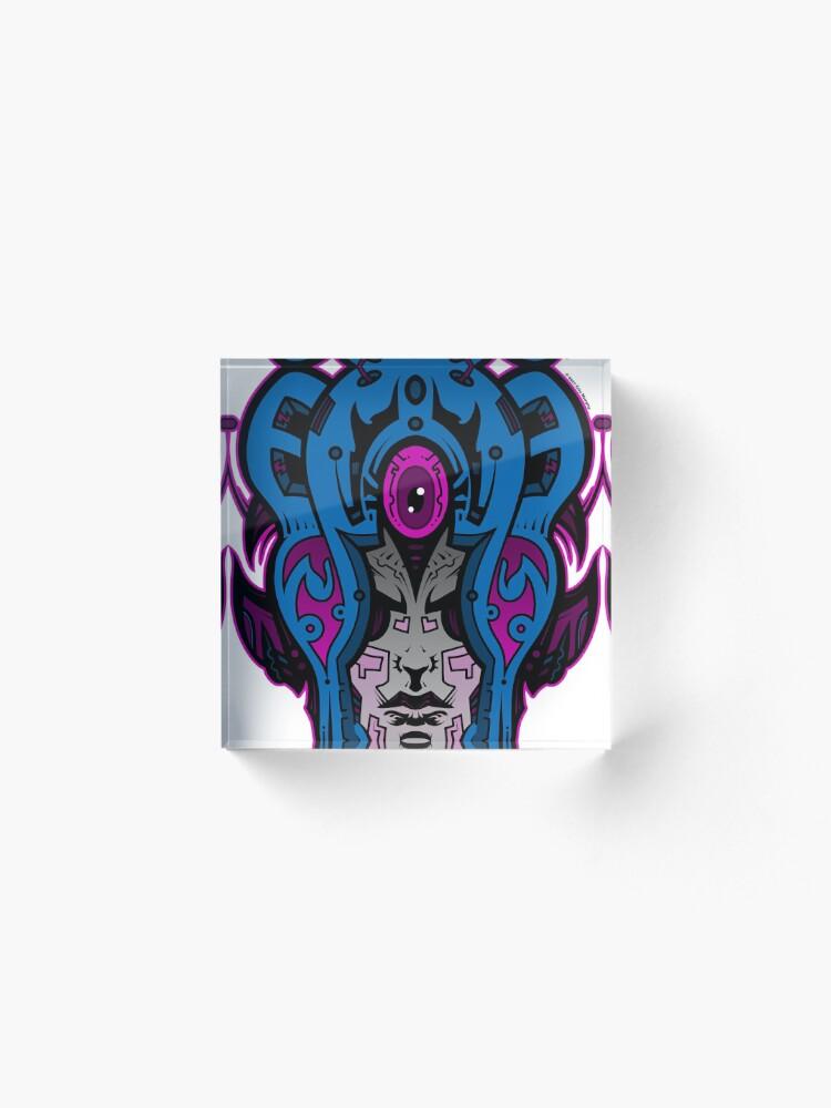 Alternate view of Mind Warp! Acrylic Block