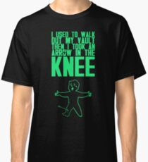 Vault Boy - Arrow in the Knee - Green - Transparent Background Classic T-Shirt