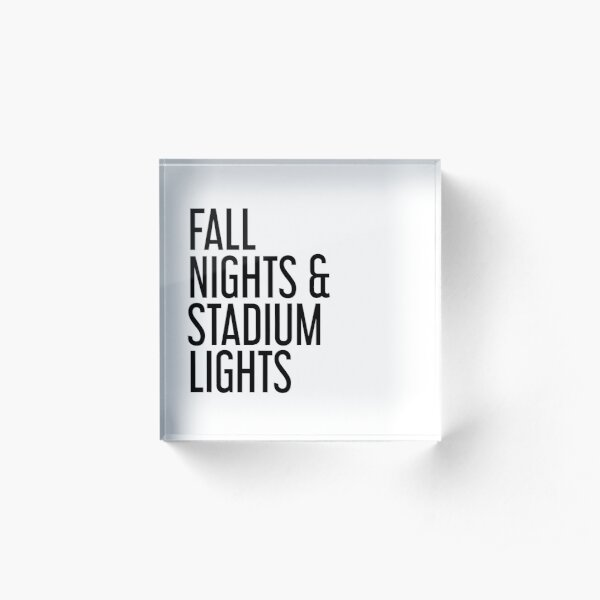 Fall nights and stadium lights Acrylic Block