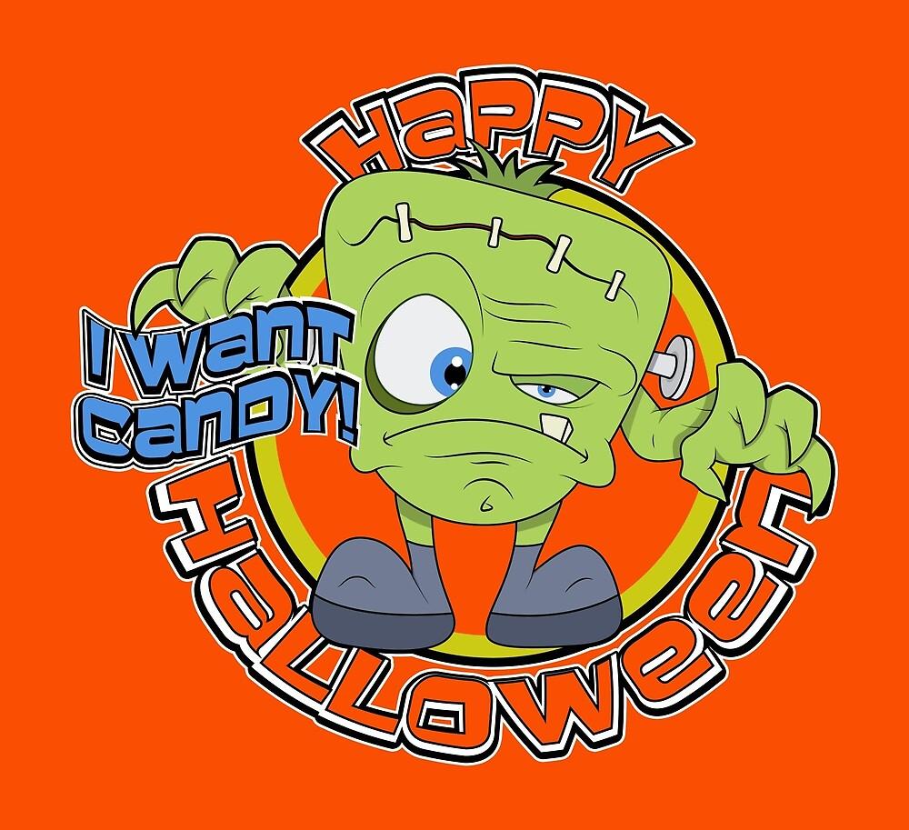 Happy Halloween Frankenstein  by scooterbaby