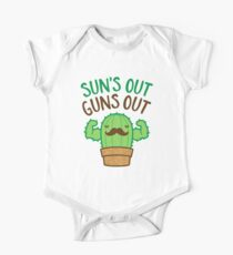 Sun's Out Guns Out Macho Cactus One Piece - Short Sleeve