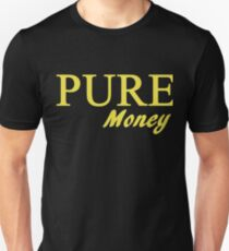 Gold Pure Money Text Logo T-Shirt
