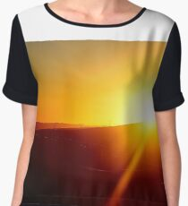 Sunset, Freeway and Power Lines Chiffon Top