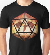 Fire Dragon D20 Unisex T-Shirt