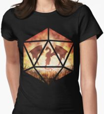 Fire Dragon D20 Women's Fitted T-Shirt