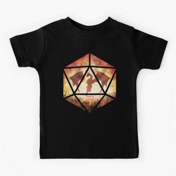Fire Dragon D20 Kids T-Shirt