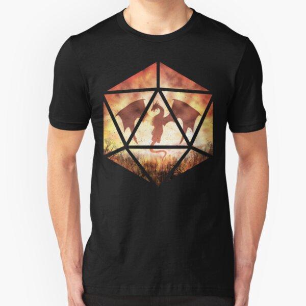 Fire Dragon D20 Slim Fit T-Shirt