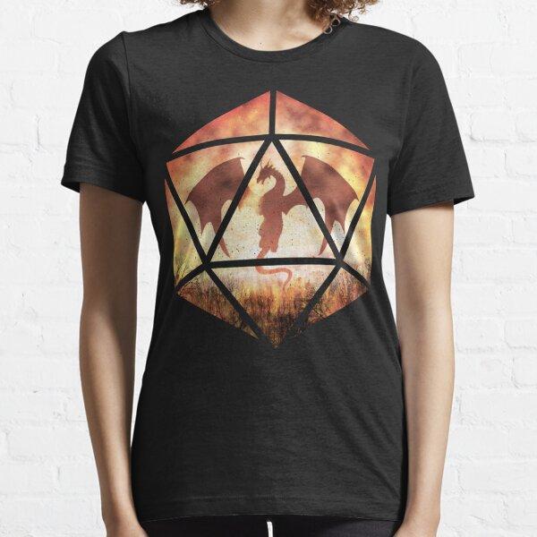 Fire Dragon D20 Essential T-Shirt