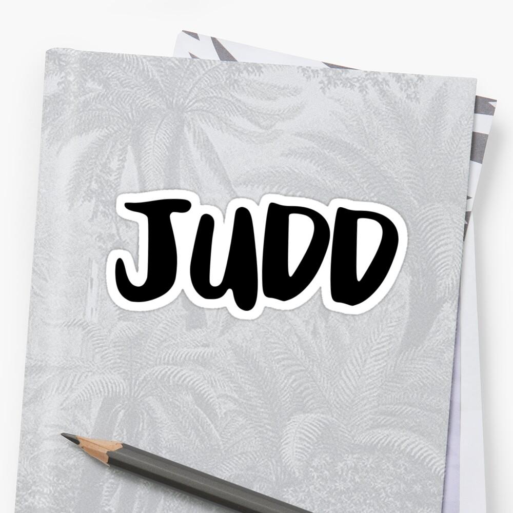Judd Sticker Front