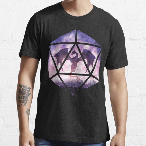 Purple Sky Dragon D20 Essential T-Shirt