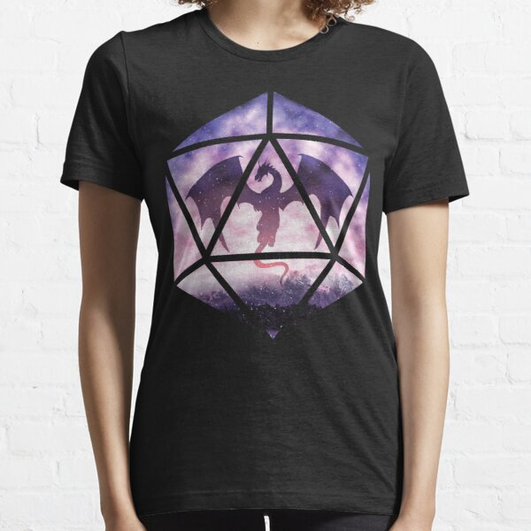 Purple Sky Dragon D20 Essential T-Shirt