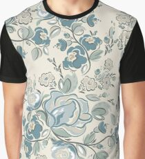 Seamless-Russian-Flower-Pattern Graphic T-Shirt