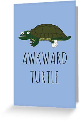 AWKWARD TURTLE by Bundjum