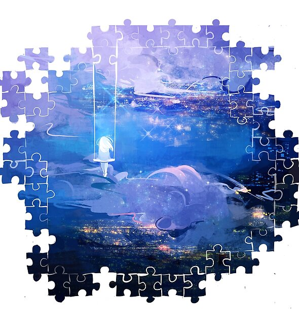 above the clouds: puzzle edition by Lina Nguyen