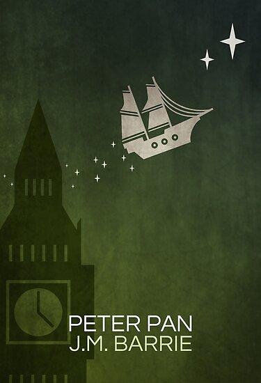 02e7ff6f13207 'Minimalist Peter Pan' Poster by thebookrepublic