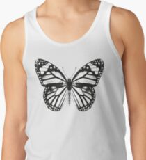 Monarch Butterfly Pattern | Black and White Tank Top