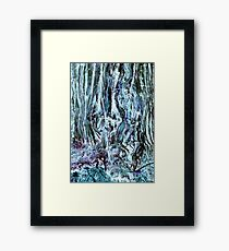 Abstracting wood Framed Print