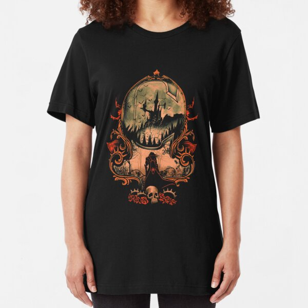 a scary castle Slim Fit T-Shirt